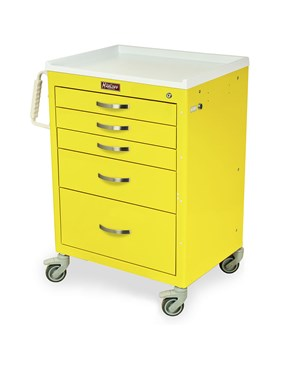 Classic Tall Six Drawer Anesthesia Cart with Combination Lock HAR7450-