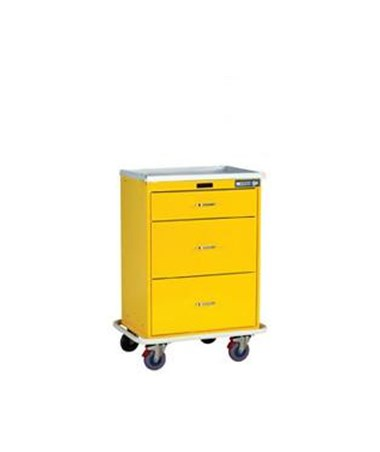Harloff Classic Three Drawer Infection Control Cart with Keyless Entry Standard Package