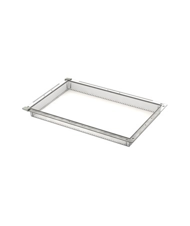 "Harloff 2"" Exchange Tray, Transparent, for Mobile Medical Storage"