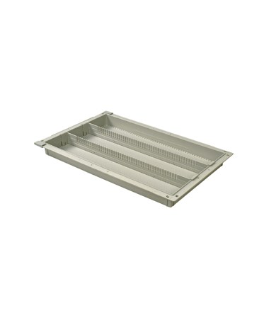 "Harloff 2"" Exchange Tray with 2 Long Dividers for Mobile Medical Storage"