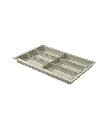 "Harloff 2"" Exchange Tray with 2 Long Dividers and 1 Short Divider for Mobile Medical Storage"