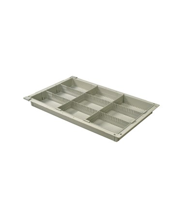 "Harloff 2"" Exchange Tray with 2 Long Dividers and 2 Short Dividers for Mobile Medical Storage"
