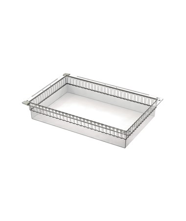 "Harloff 4"" Exchange Tray, Transparent, for Mobile Medical Storage"