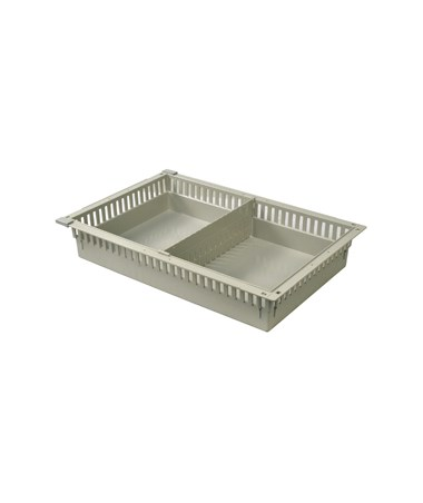 "Harloff 4"" Exchange Tray with 1 Short Divider for Mobile Medical Storage"