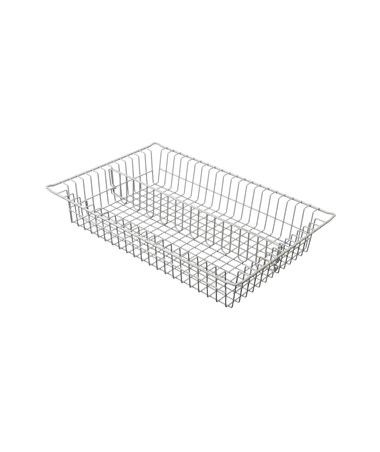 "Harloff 4"" Wired Basket with 1 Long Divider for Mobile Medical Storage"