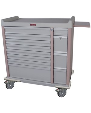 OptimAl™ All-Alluminum Medication Box Cart HARAL294BOX-