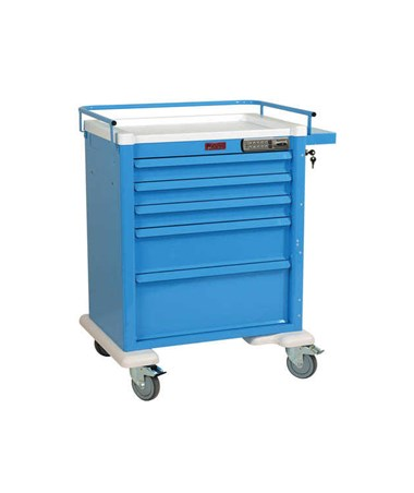 Aluminum Universal Line Electronic Lock Medication Cart HARAL808EKC3-