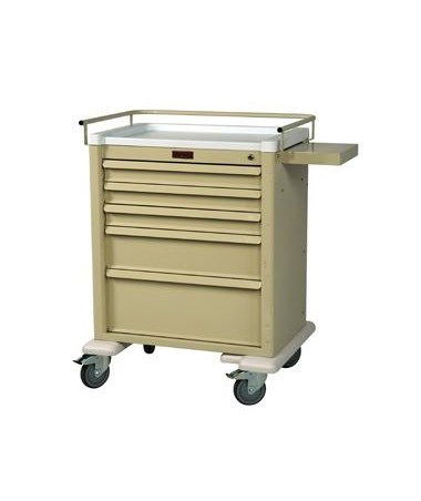 Harloff Universal Line Keylocking 5 Drawer Anesthesia Cart, Standard Package