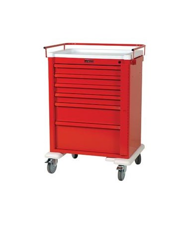 Harloff Universal Aluminum Tall Six Drawer Crash Cart Standard Package