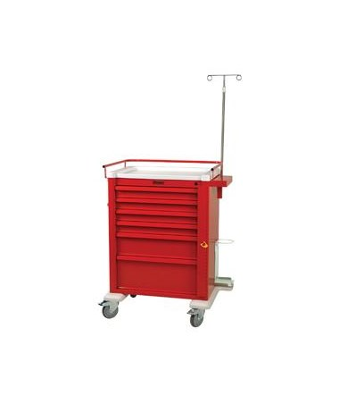 Harloff Universal Aluminum Tall Six Drawer Crash Cart Specialty Package