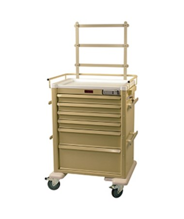 Aluminum 6 Drawer Anesthesia Cart with Electronic Lock HARAL809E6-