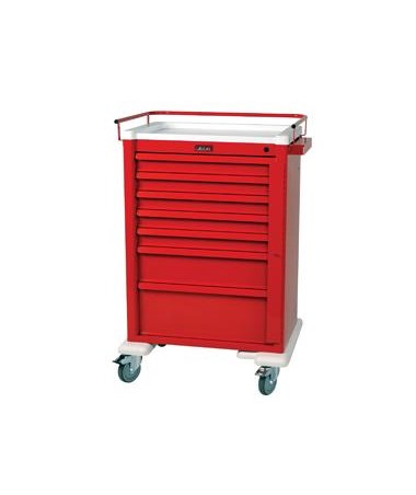 Harloff Universal Aluminum Super Seven Drawer Crash Cart Standard Package