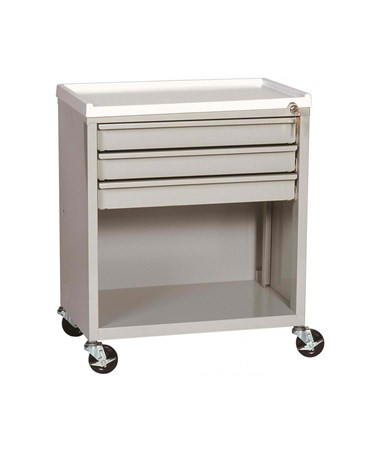 ETC Line Three Drawer Treatment Cart with Lower Compartment HARETC-3-