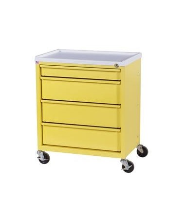 Harloff ETC Line Four Drawer Treatment Cart