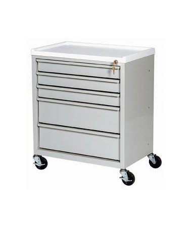 Harloff ETC Line Five Drawer Treatment Cart