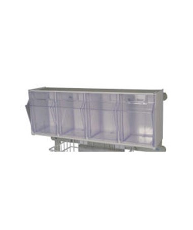 Harloff MR-Conditional 4 Compartment Tilt Bin with Mounting Clip