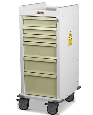 MR-Conditional Seven Drawer Anesthesia Cart HARMR7K-MAN