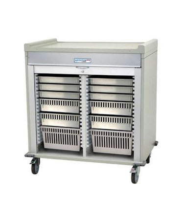 Harloff Short Double Column Medical Storage Cart, MS4040-A