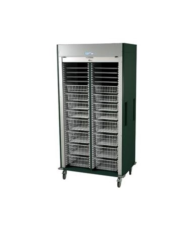Harloff Preconfigured Double Column Orthopedic Medical Storage Cart with Tambour Door