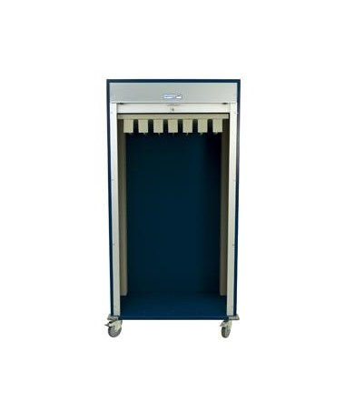 Double Wide Full Shell Catheter Procedure Cart with Tambour Door HARMS8140CATH-