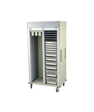 Harloff Preconfigured Double Column Catheter Procedure Cart with Tambour Door