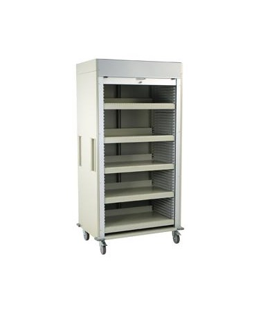 Full Shell Medical Storage Cart with Tambour Door HARMS8140SH