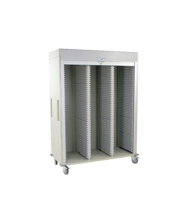 Medstor Max Triple Column Medical Storage Cart with Tambour Door