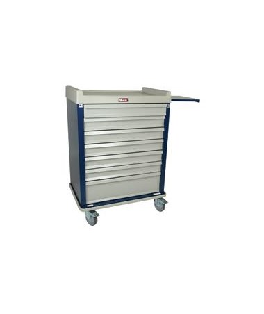 Harloff Standard Line Single Column 60 Multi-Dose Medication Cart