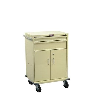 Harloff V-Series Two Drawer Cart with Storage Compartment