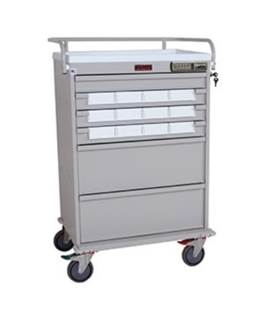 Value Line Med Bin Cart with Internal Narcotics Box, Specialty Package HARVLT12BIN5SP-