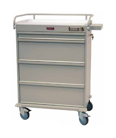 Harloff Value Line 480 Punch Card Medication Cart with Basic Electronic Pushbutton Lock