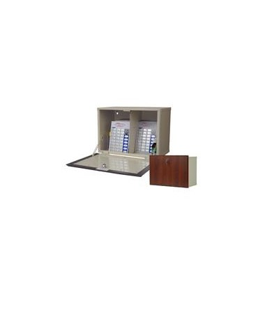 Wood Laminate Exterior Drop Door Wall 40 Punch Card Medication Cabinet HARWL2717-