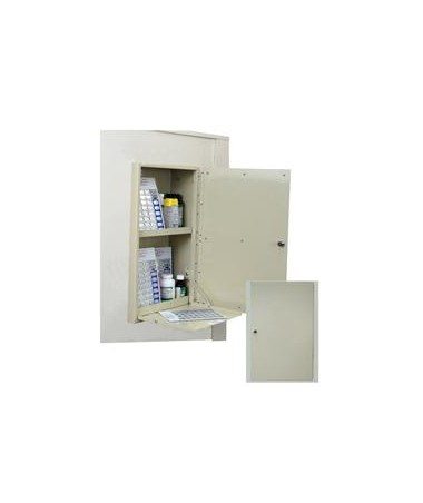 Harloff In Wall 40 Punch Card Medication Cabinet with Painted Double Thick Door