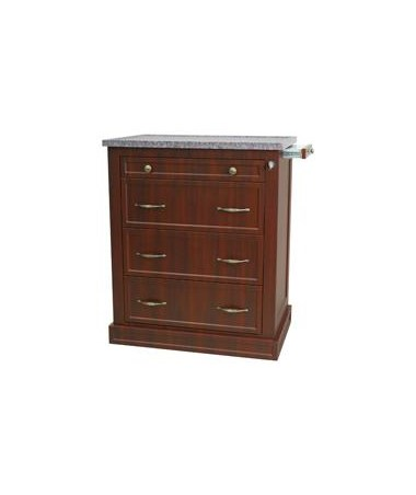 Harloff Wood Laminate 480 Punch Card Medication Cart Cherry Mahogany