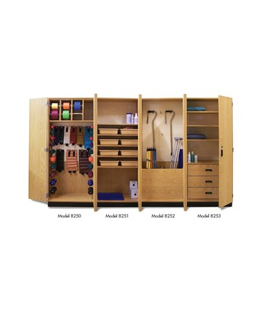 Thera-Wall™ Therapy Storage System Cabinet with all Cabinets