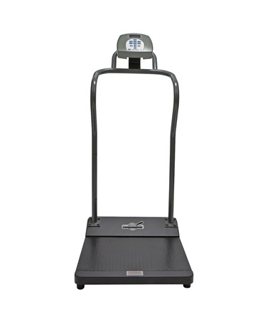 Antimicrobial Digital Platform Scale with Handrail HEA3001KL-AMUA-