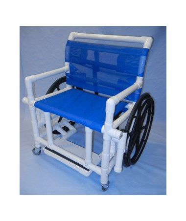 "PVC Shower Wheelchair with Sling Seat - 400 Lb Capacity - 24"" Width HMPSWC-400"