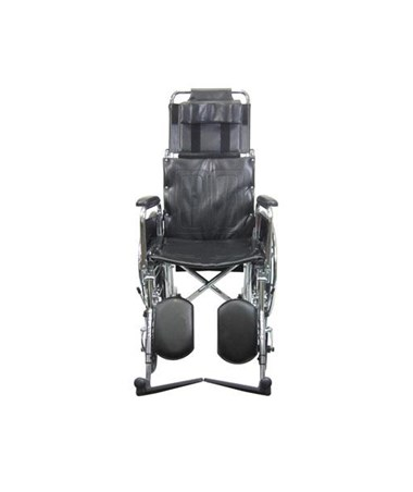 Karman Reclining Wheelchair with Removable Armrests & Footrests - Front View