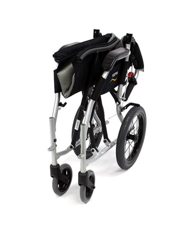Karman S-Ergo Flight Transport Wheelchair - Folded