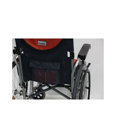 Karman S-Ergo Ultralightweight Wheelchair with Flip-Back Armrests and Swing Away Footrests - Pouch