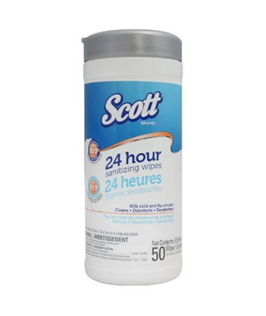 Scott® 24 Hour Santizing Wipes -12/Cs KIM41524