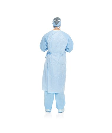Halyard AERO BLUE Performance Surgical Gowns - Back