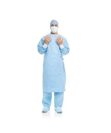 Halyard AERO BLUE Performance Surgical Gown KIM41740NS-