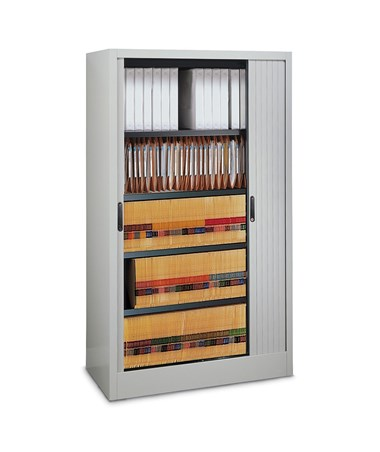 File Harbor Unit with Horizontal Tambour Door - 5 Tier MAY6236A3-
