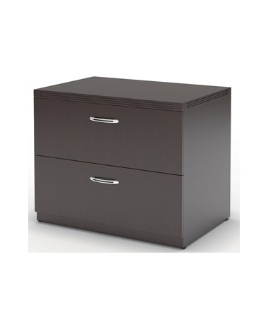 MAYAFLF36 - Aberdeen® Laminate Series Freestanding Lateral File with 2 Drawers - Mocha Laminate Color