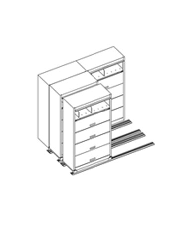 MAYFF5211- Flip-n-File™ Cabinets on Kwik-Track - Tri-Slider, 4 Units - 2/1/1 - Scatch