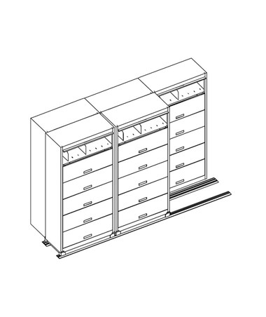 3/2 MAYFF532- Flip-n-File™ Cabinets on Kwik-Track - Bi-Slider, 5 Units - 3/2 - Scatch