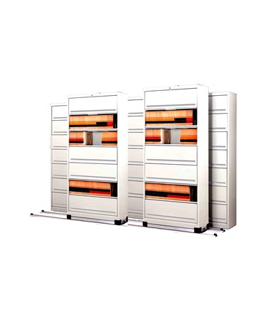 Flip-n-File™ Cabinets on Kwik-Track - Bi-Slider, 5 Units - 3/2 MAYFF532-