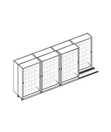 MAYFH3643- Kwik-Track Horizontal Tambour Door 7 Tier BiSlider Filing System - 4/3 - Scatch