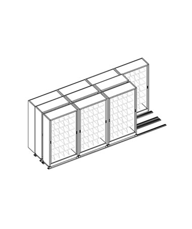 MAYFH36433- Kwik-Track Horizontal Tambour Door 7 Tier TriSlider Filing System - 4/3/3 - Scatch